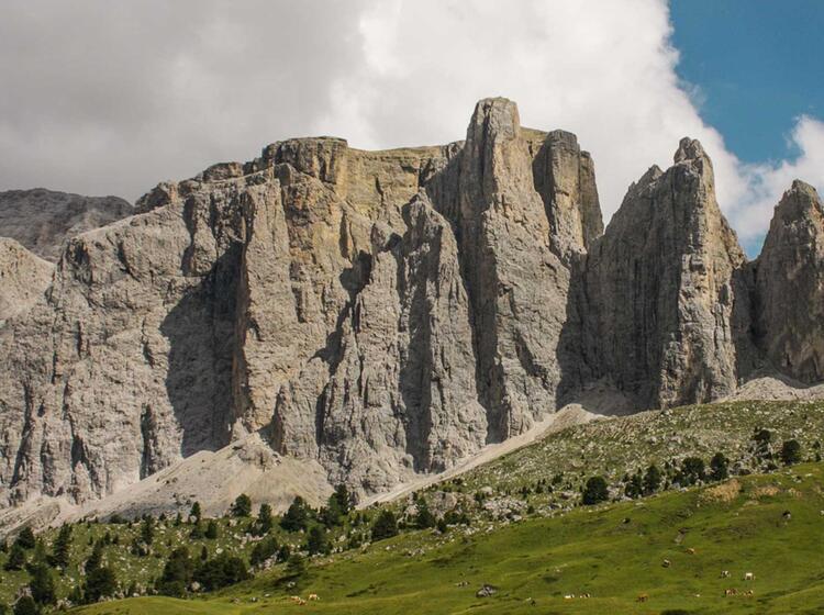 Klettern An Den Sella Tuermen In Den Dolomiten Mit Bergfuehrer