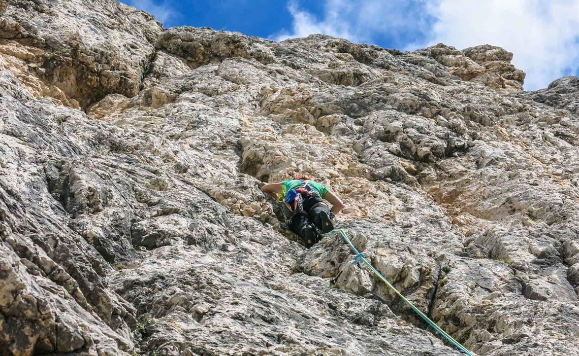 Klettern An Den Vajolet Tuermen Im Rosengarten