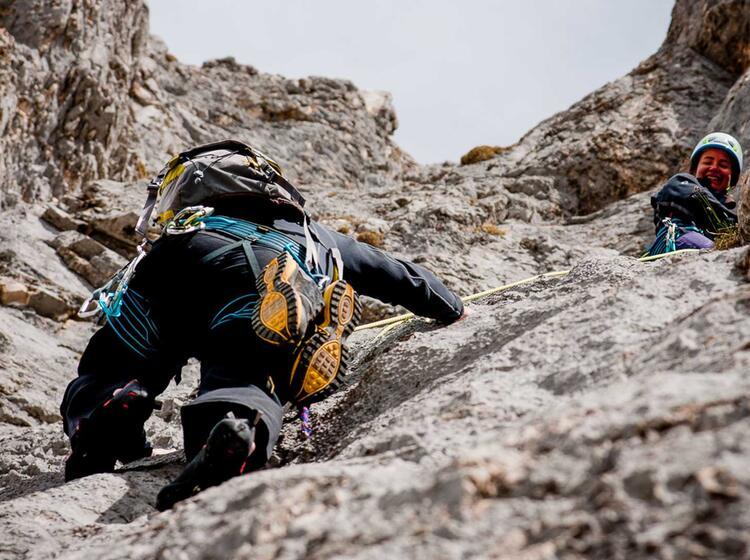 Klettern An Der Blaueishuette