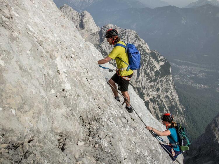 Klettern Auf Die Alpspitze In Garmisch