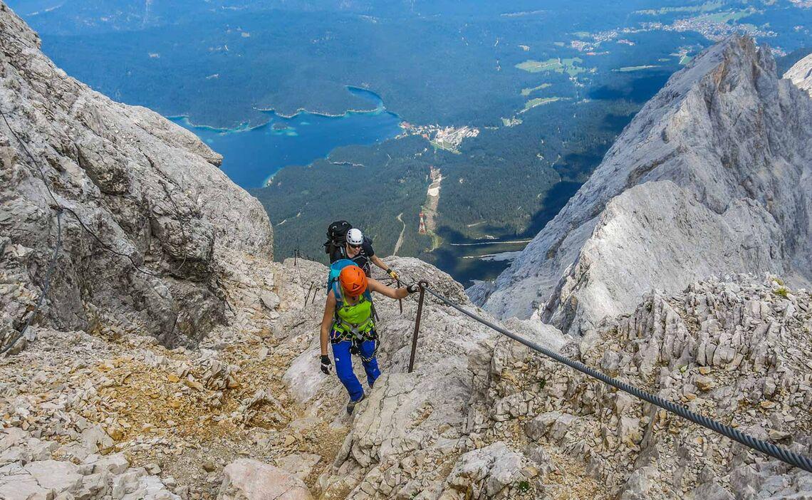 Klettern Auf Die Zugspitze