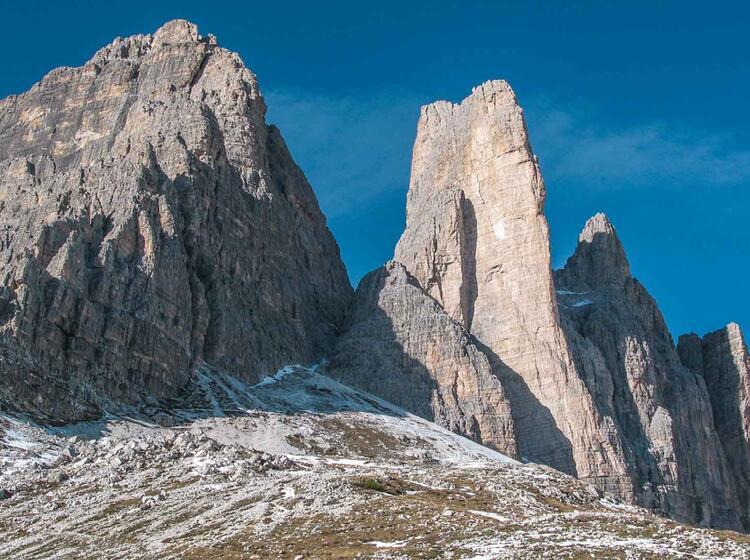 Klettern In Den Dolomiten Mit Bergfuehrer An Der Kleinen Zinne
