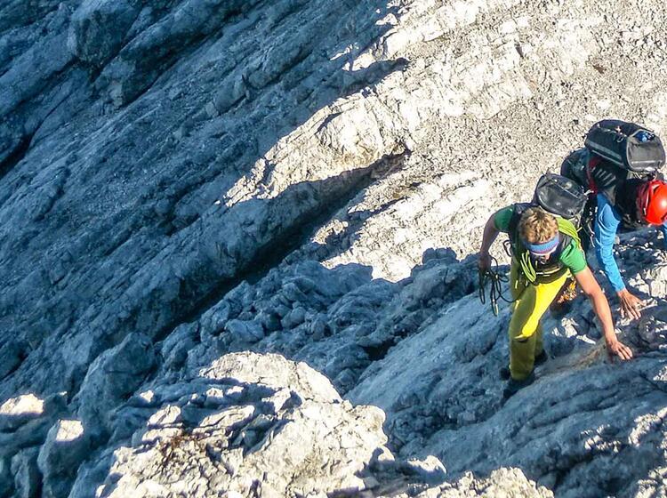 Kletterpassage Am Blassengrat