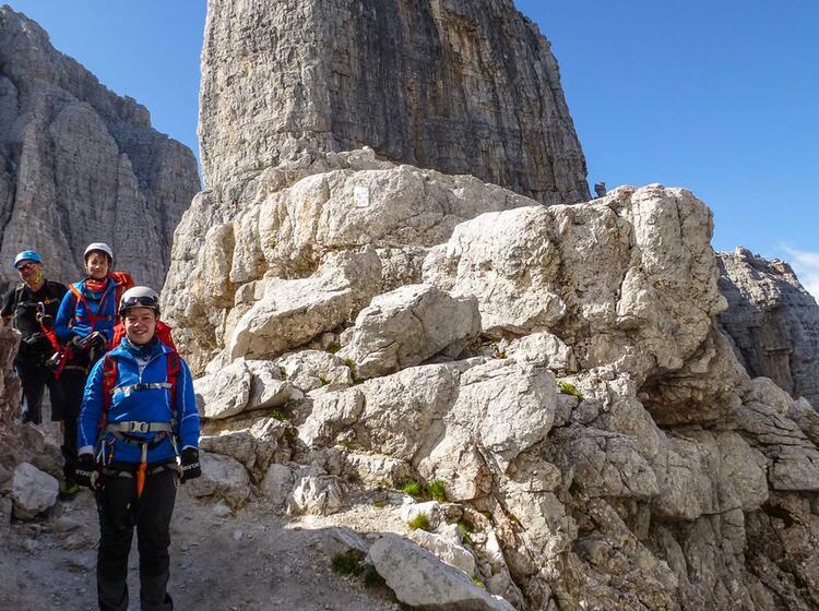 Klettersteig Fuehrung Dolomiten