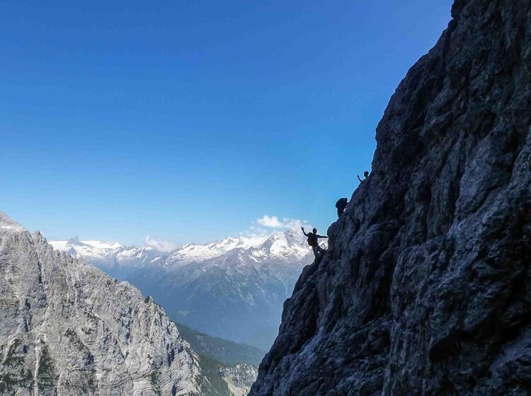Klettersteig Fuehrung Sentiero Delle Bocchetto Centrale