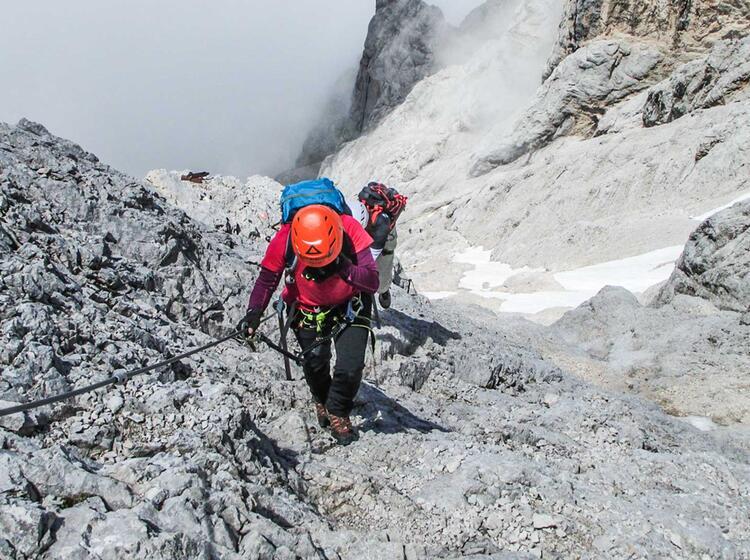 Klettersteig Fuehrung Zugspitze