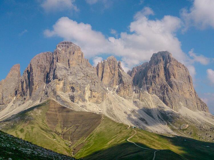 Klettersteig Gehen In Den Dolomiten