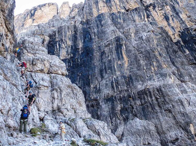 Klettersteig Woche Brenta Sentiero Delle Bocchetto
