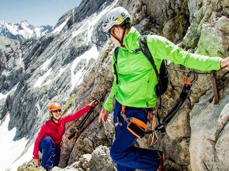 Klettersteiggehen Lernen Am Kreuzeckhaus