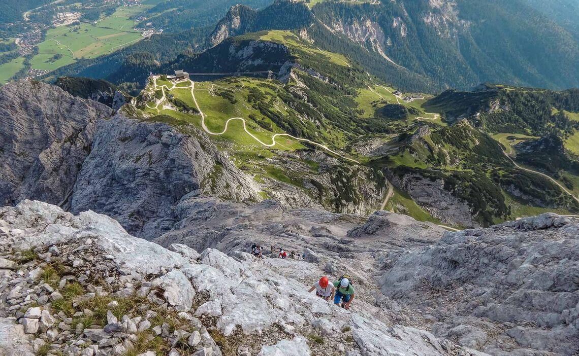 Klettersteiggehen Lernen Mit Bergfuehrer