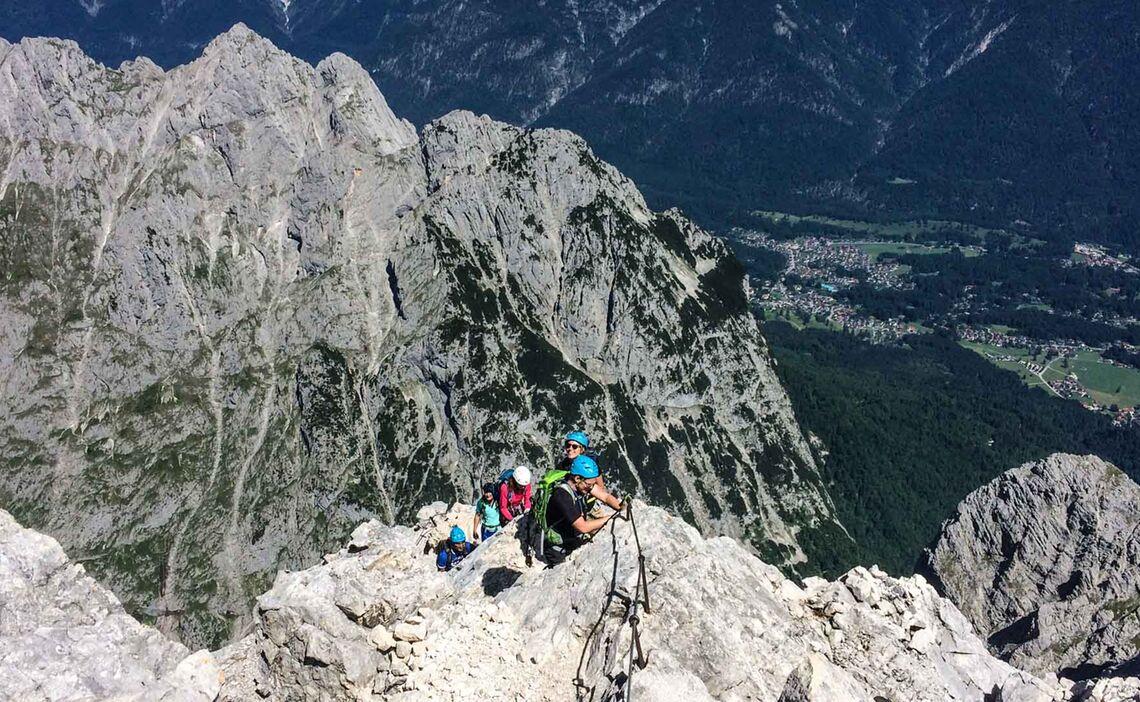 Klettersteigkurs Tageskurs Alpspitze