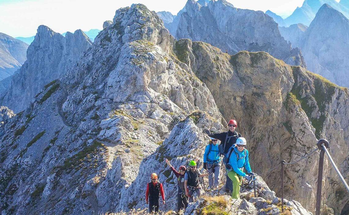 Klettersteigkurse In Den Alpen