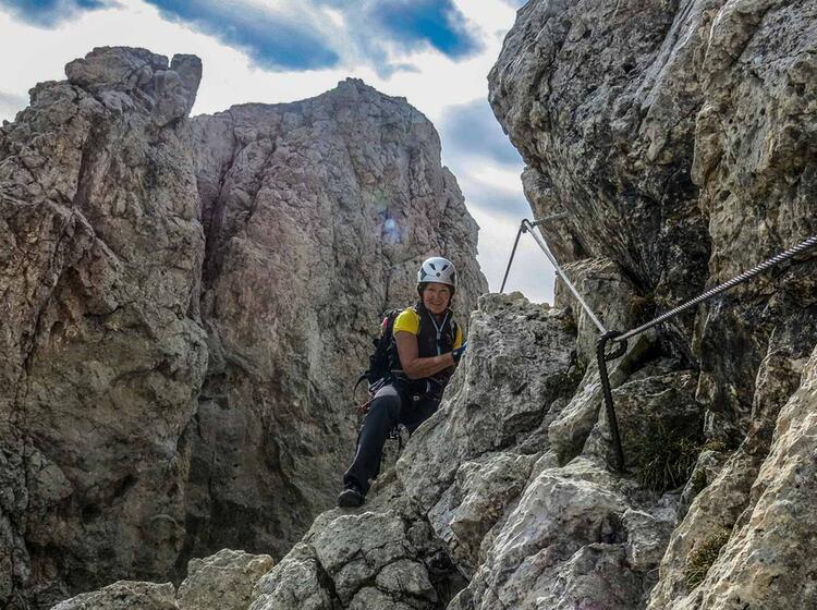 Klettersteigwoche Im Groedner Tal In Den Dolomiten Am Sella Pass