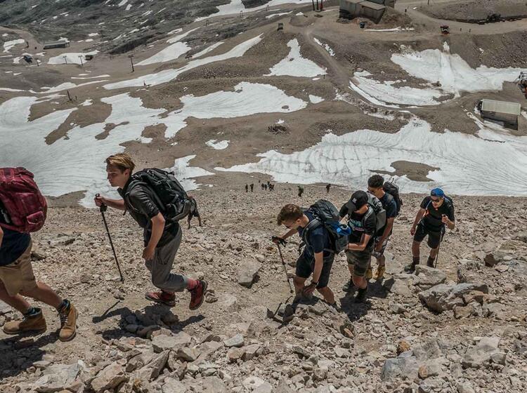 Kurz Vor Dem Gipfel Der Zugspitze