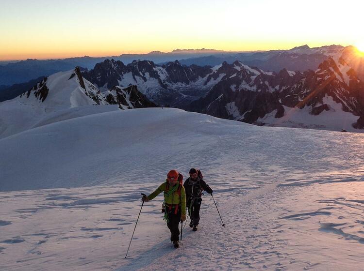 Kurz Vor Dem Gipfel Des Mont Blanc