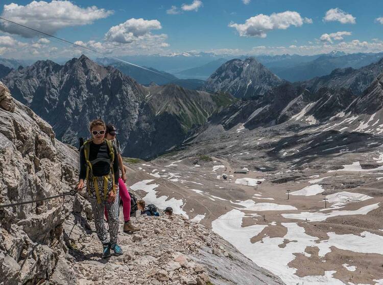 Kurz Vor Dme Gipfel Der Zugspitze Auf Der Zugspitztour