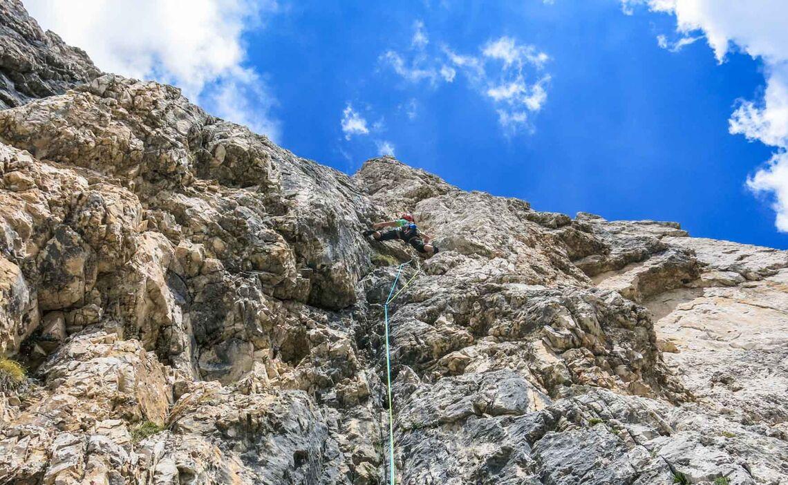 Mehrseillaengen Klettern In Den Dolomiten