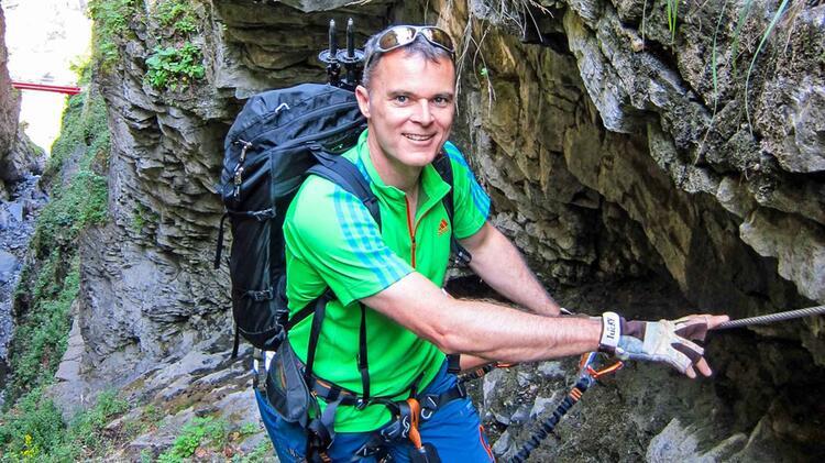 Michael Adelbert Auf Dem Hoellental Klettersteig Zur Zugspitze