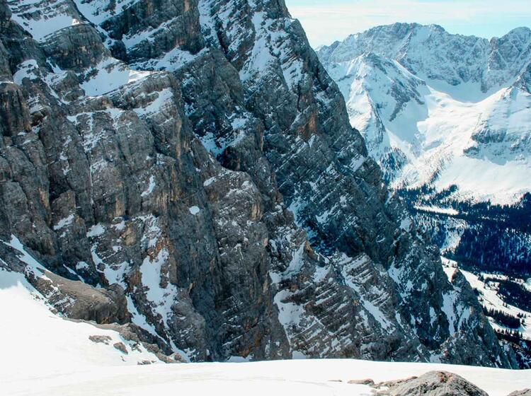 Mit Bergfuehrer Die Neue Welt Abfahrt