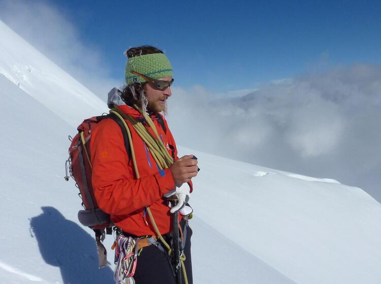 Mit Bergfuehrer In Der Bernina Am Piz Palue