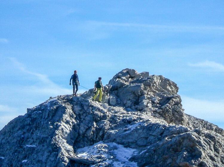 Mit Der Bergsteigerschule Zugspitze Am Blassengrat