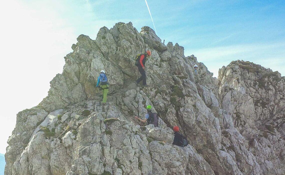 Mittenwalder Hoehenweg Auf Dem Klettersteigkurs