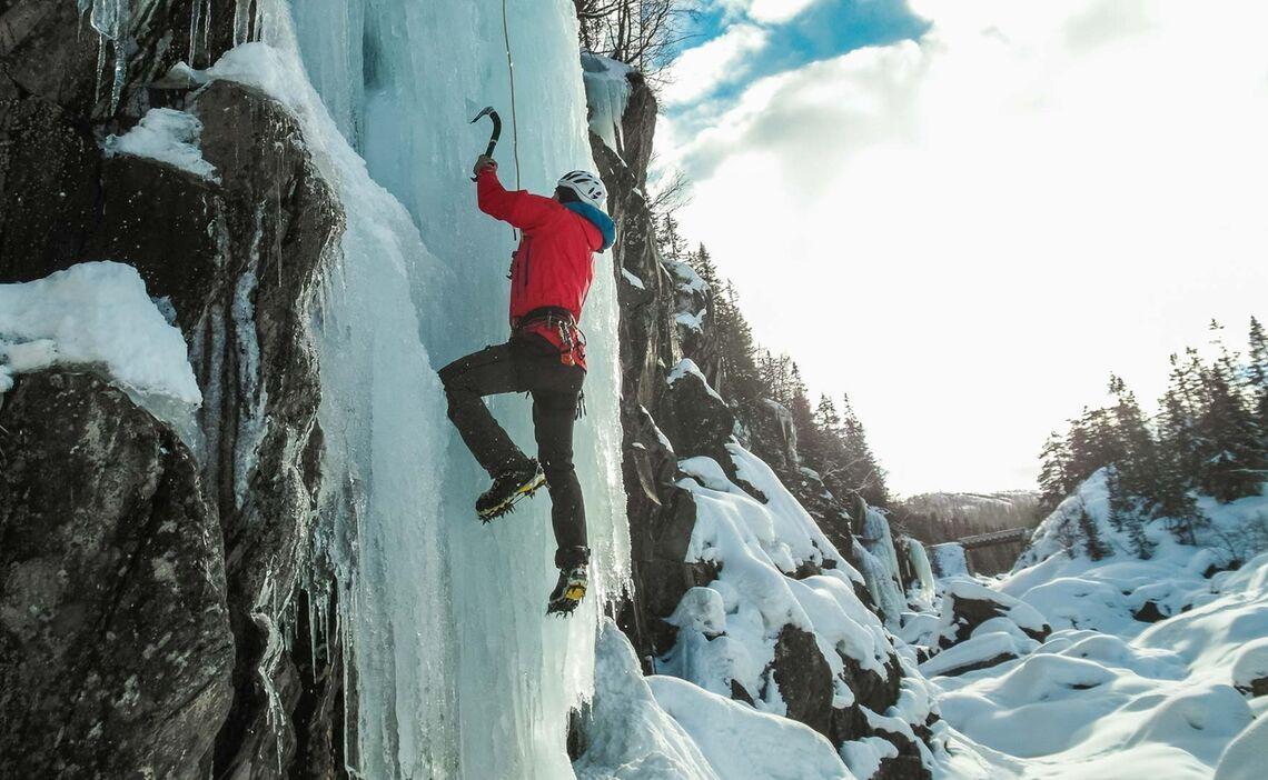 Norwegen Eisklettern Mit Bergfu Hrer