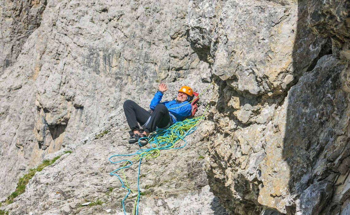 Pause Am Standplatz In Den Dolomiten
