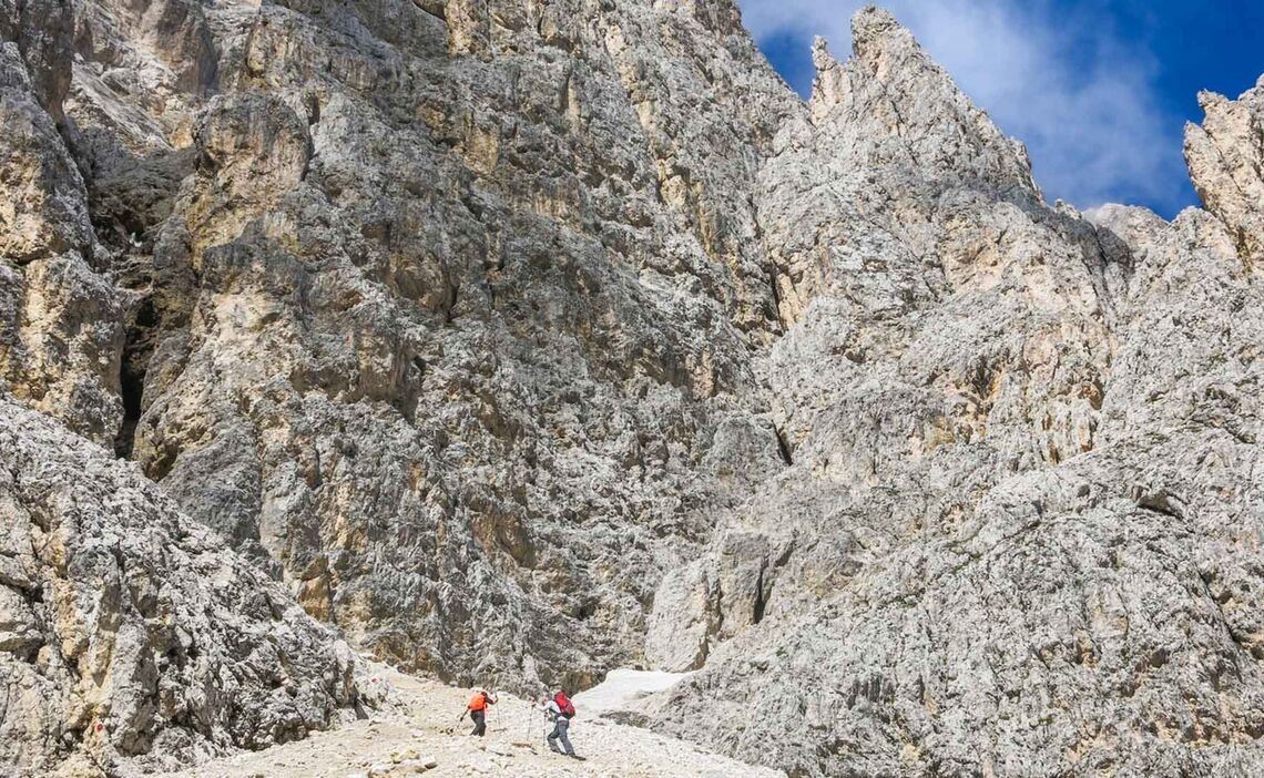 Plattkofel Klettersteig In Der Sella