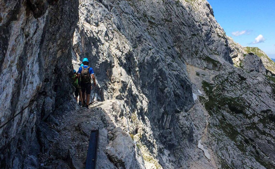 Rueckweg Von Der Alpspitze Ueber Den Nordwandsteig