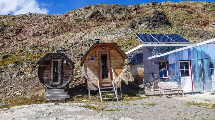 Sauna Auf Der Bella Vista Huette Im Oetztal