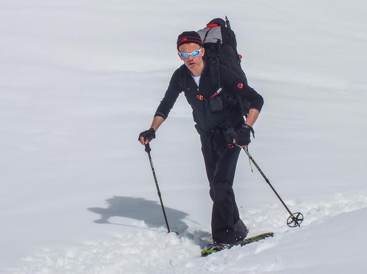 Schneeschuh Hochtouren Am Gletscher