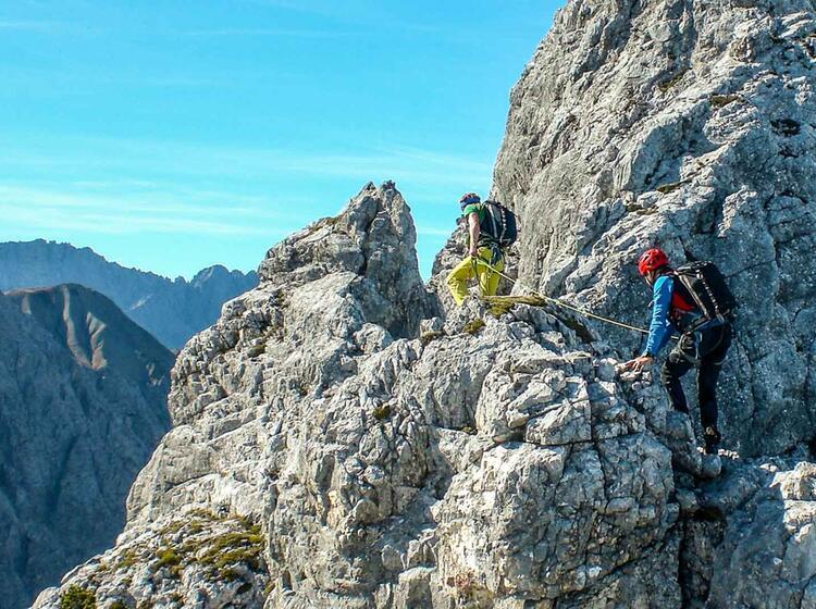 Schoene Kletterei Am Blassengrat Mit Bergfuehrer