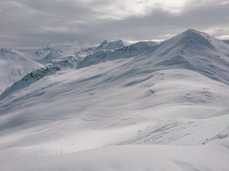 Skitouren Abfahrt Am Tiefschneekurs Livigno