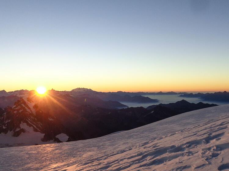 Sonnenaufgang Am Mont Blanc