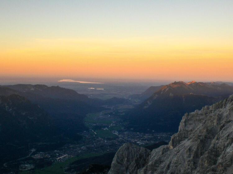 Sonnenuntergang Am Jubilaeumsgrat An Der Biwakschachtel