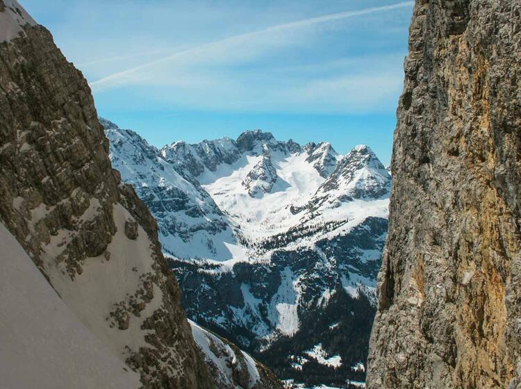 Steile Rinne Neue Welt An Der Zugspitze