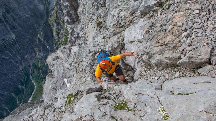 Tiefblick In Der Hochwanner Nordwand
