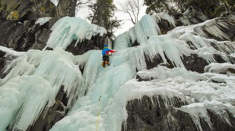 Vorstieg Im Eis In Rjukan In Norwegen