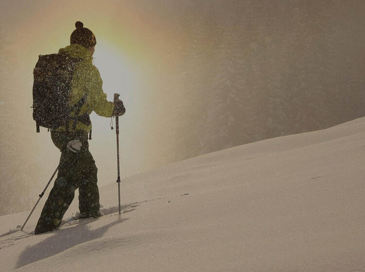 Wandern Mit Schneeschuhen Am Spitzingsee