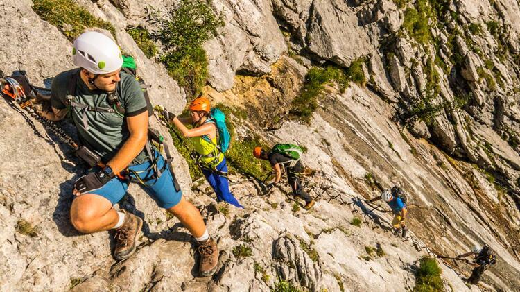 Zugspitze Klettersteig Durch Das Hoellental Am Brett