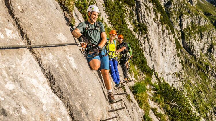 Zugspitze Klettersteig Durch Das Hoellental Hier Am Brett