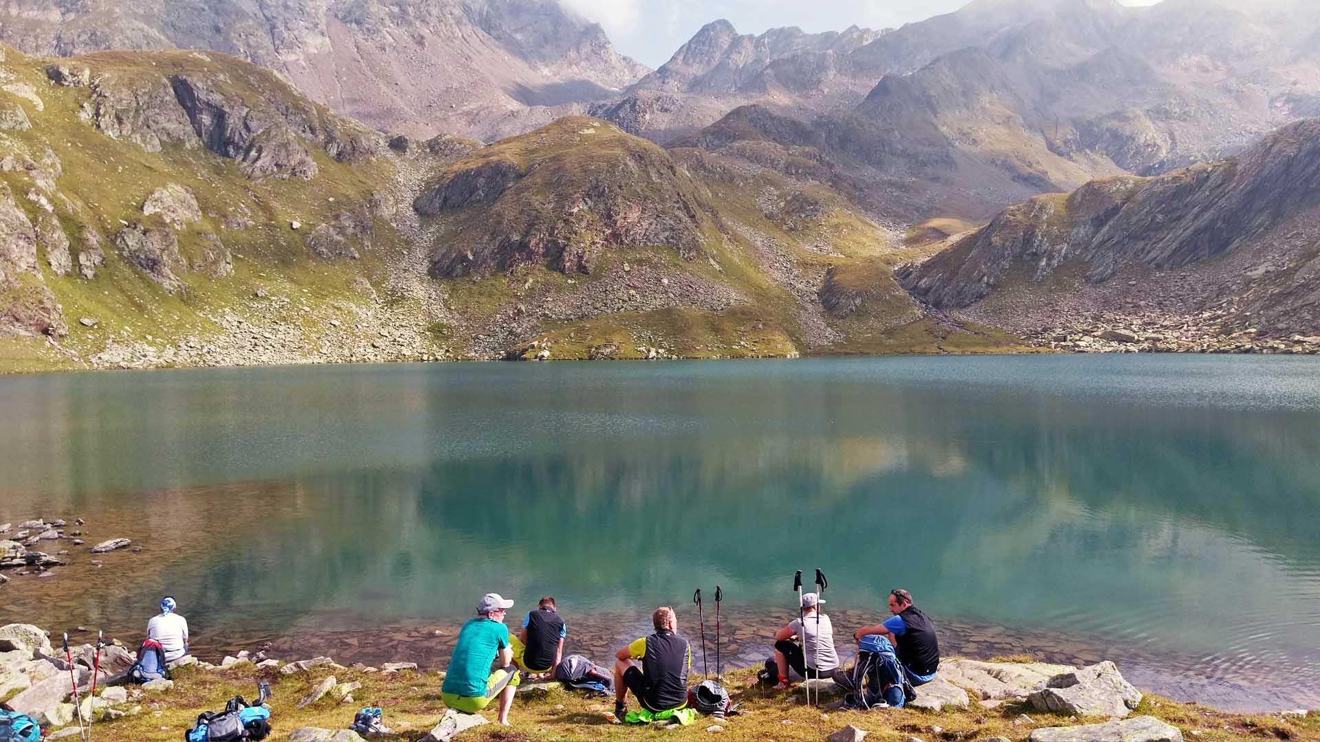 Alpenüberquerung Zugspitze - Meran | Bergsee